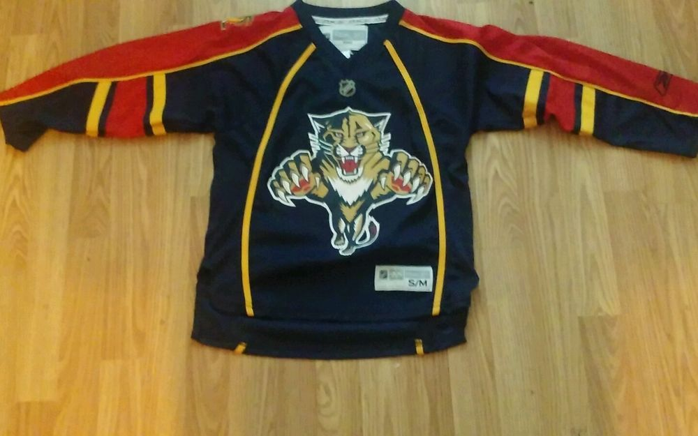 low priced e163a 2c3ef Florida Panthers REEBOK Navy Hockey NHL Jersey Size Youth ...