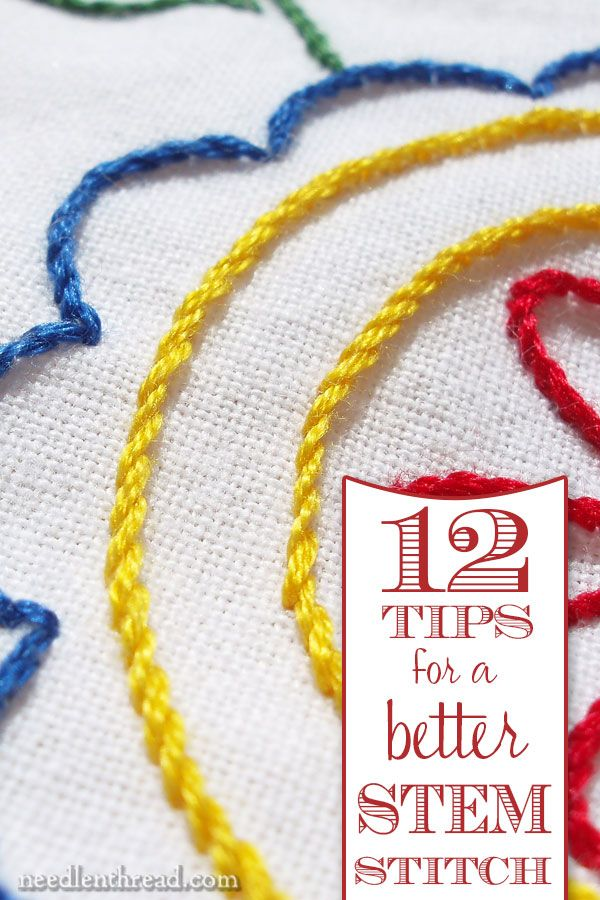 12 Tips For A Better Stem Stitch Na Evenweaveembroidery