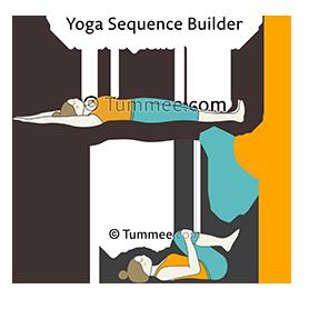 full body stretch pose wind release pose flow yoga supta