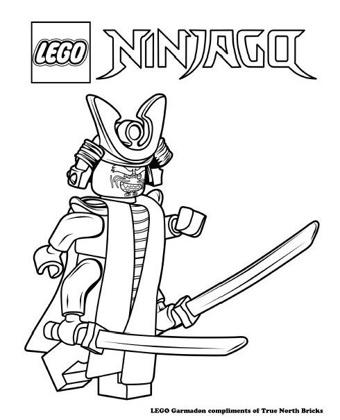 Lego Movie Coloring Pages Pdf : Lego colouring page garmadon ninjago movie