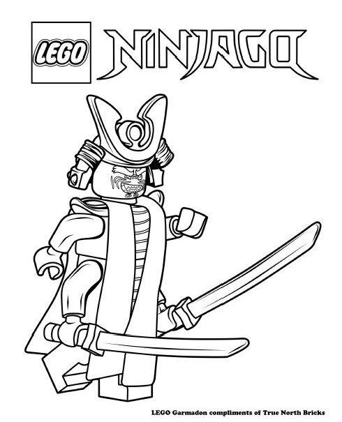 Coloring Page Garmadon True North Bricks Lego Coloring Pages Lego Coloring Ninjago Coloring Pages