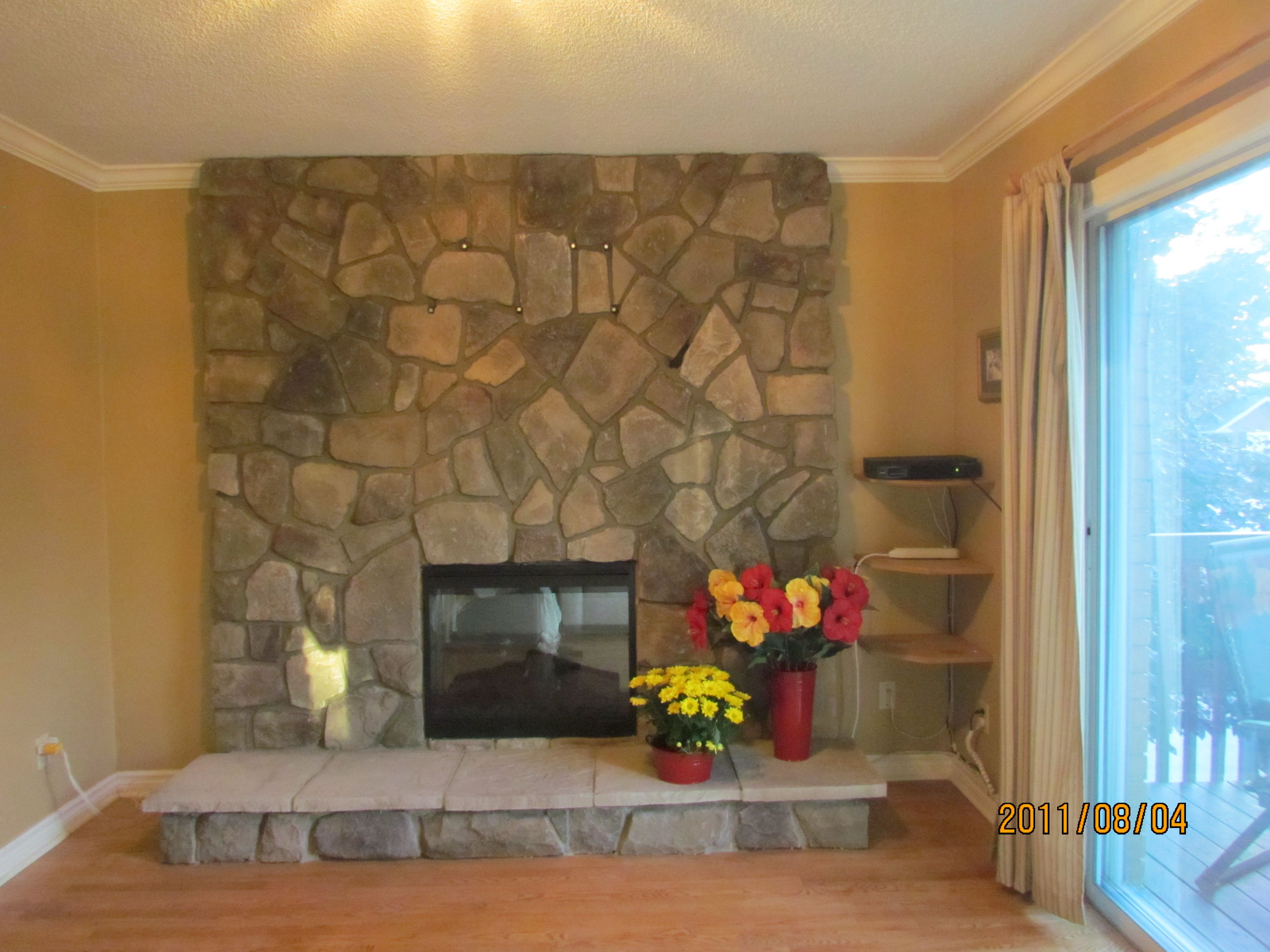 For Diane Who Wanted To Cover Up Her Dated Brick Fireplace With
