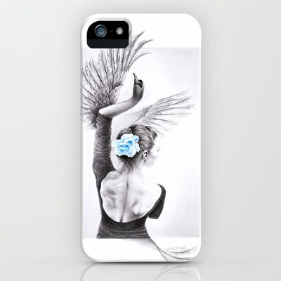 #phonecase #dance #ballet #swan #graphic #blackandwhite