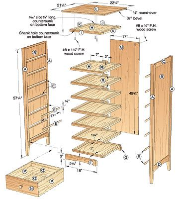 Free Woodworking Plans And Projects Information For Building Bedroom This 10 Drawer Chest Would Be Perfect
