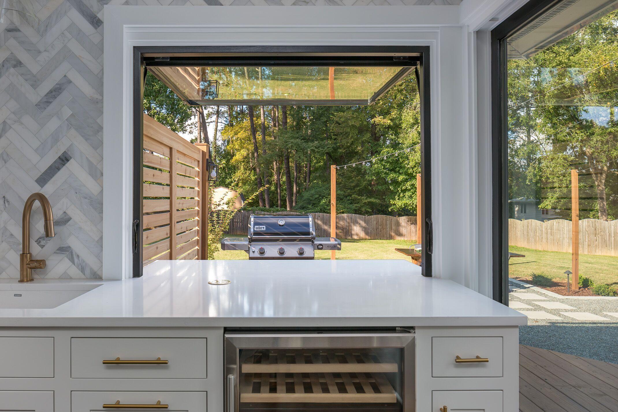 modern farmhouse kitchen window with pass through window modern farmhouse kitchens kitchen on farmhouse kitchen window id=37922