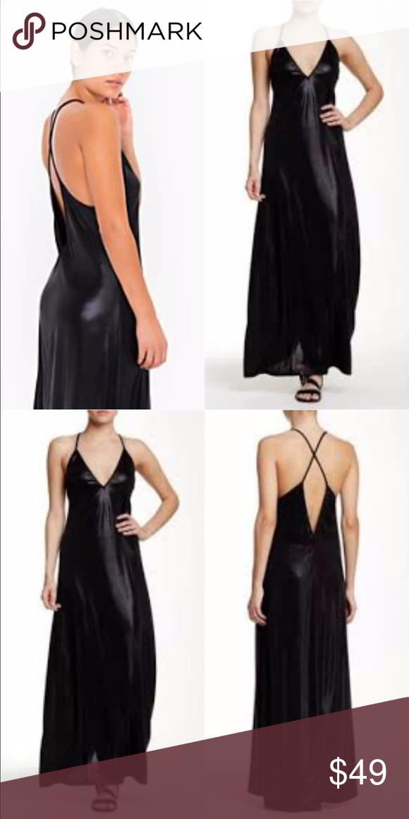 Sold Outsexy Black Metallic Maxi Dress Nwt My Posh Picks
