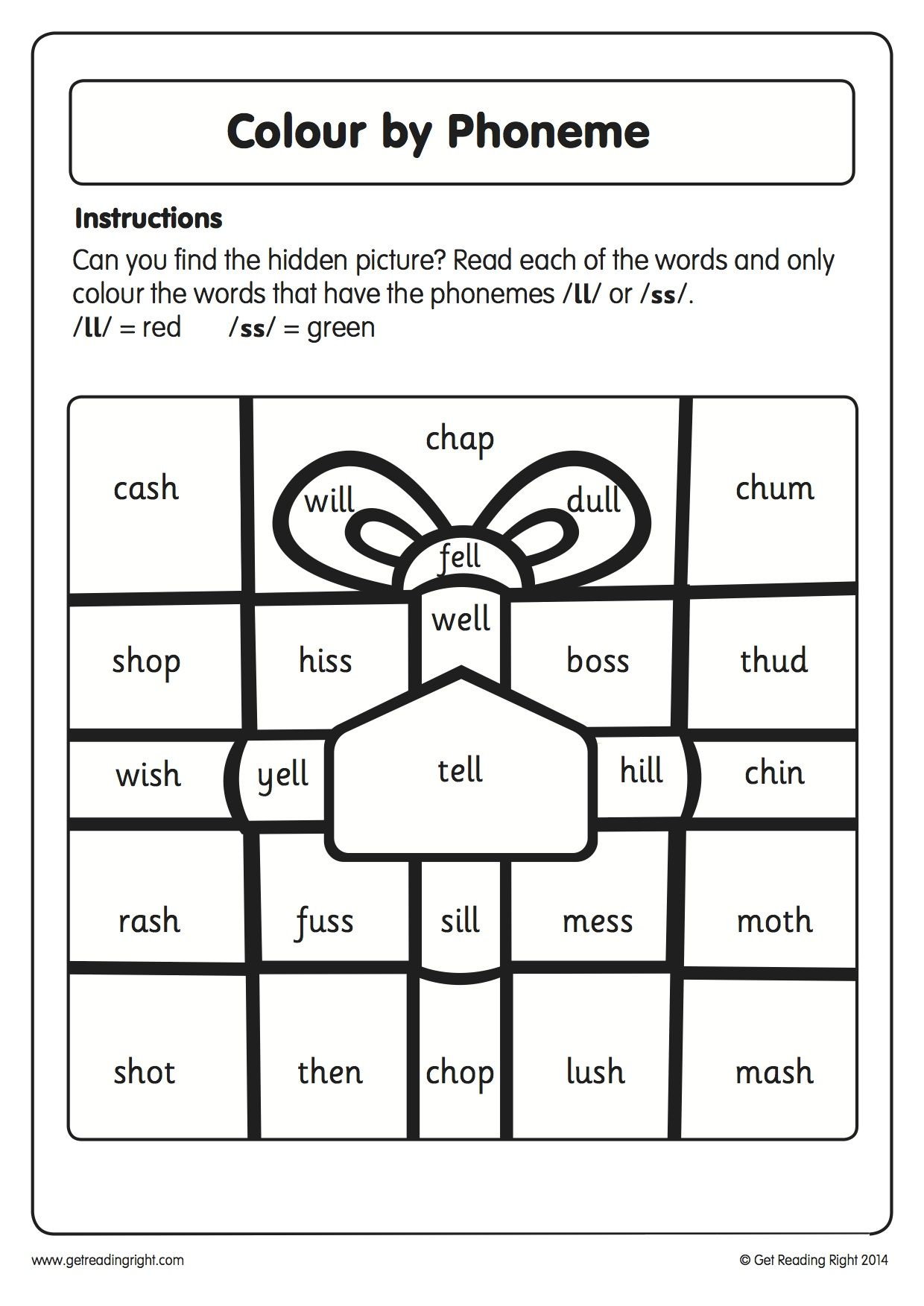 Our Colour By Phoneme Worksheet Is Designed To Help Children Practise Their Decoding And