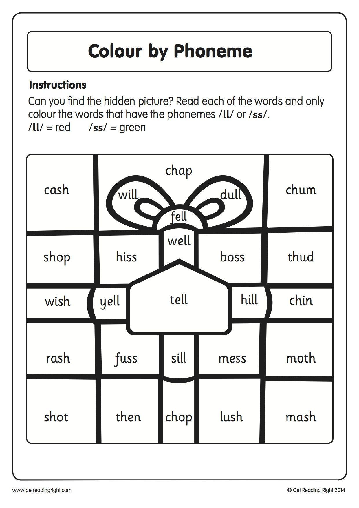 Blending Phonemes Worksheet   Printable Worksheets and Activities for  Teachers [ 1753 x 1240 Pixel ]
