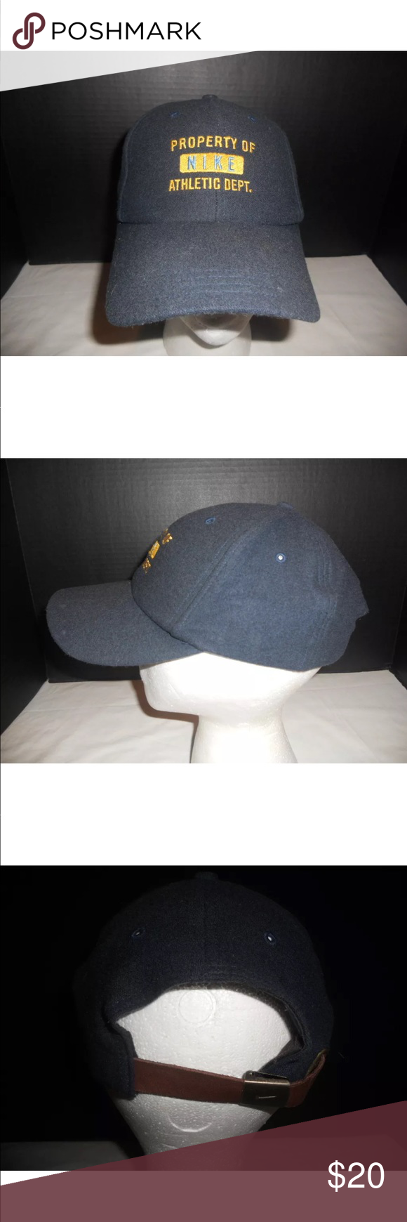 4f765c597 Property of Nike Athletic Dept. Hat Adult One Size Property of Nike ...