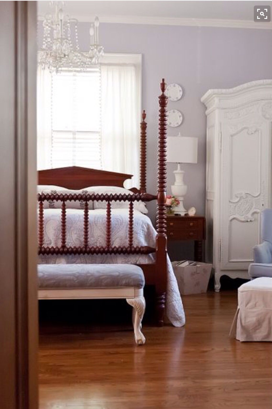 Benjamin Moore Lavender Mist Sophias Bedroom In 2019 Bedroom
