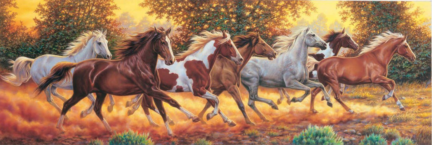 Panoramic Running Horses Jigsaw Puzzle Is Stunning And