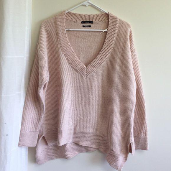 Zara pink Italian wool sweater | Wool sweaters, Customer support ...