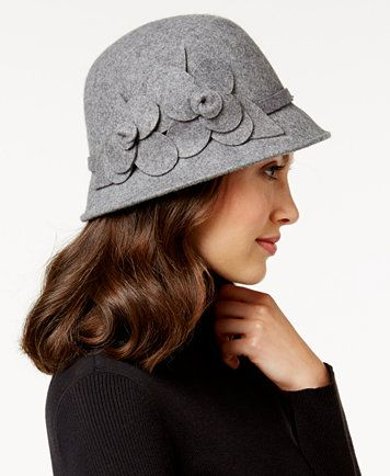 56ce67f206a8ab Nine West Felt Self Flower Cloche | macys.com | Hats For Women ...