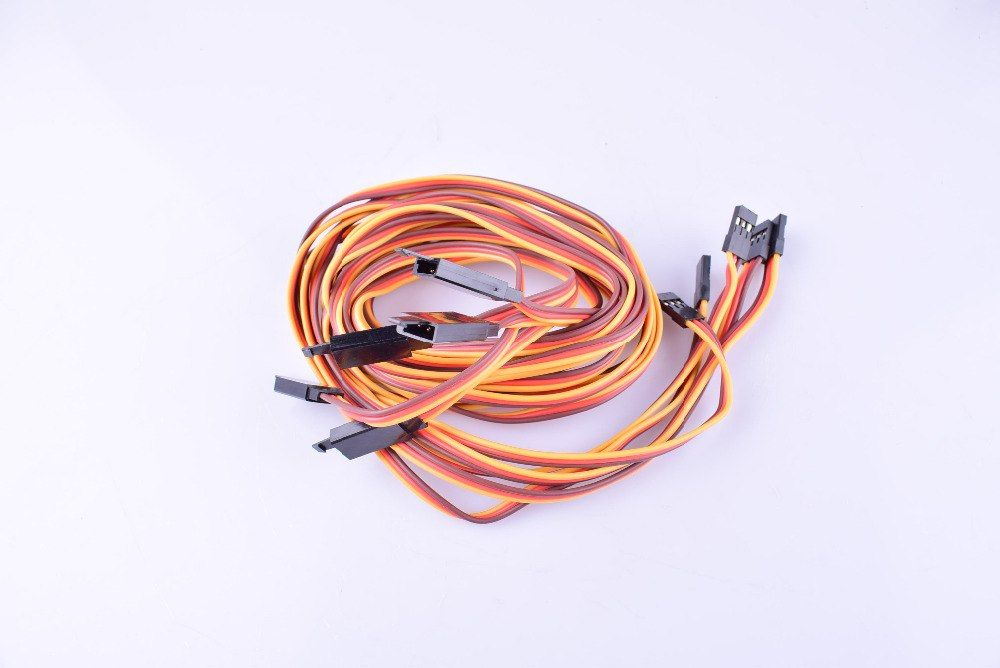 5pcs Jr Plug Male To Female Servo Extension Lead Wire Cable 100