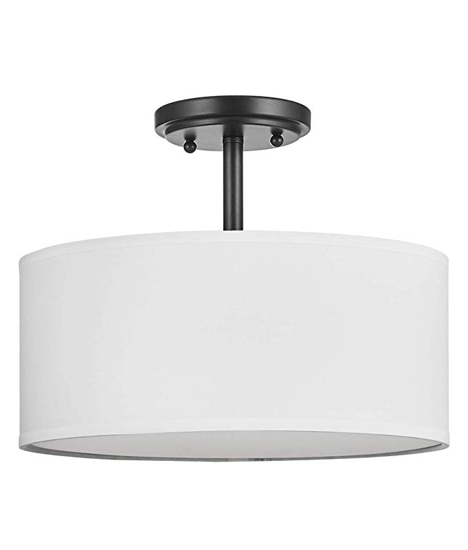 "Doraimi 13"" 2-Light Semi-Flush Mount Ceiling Light Fixture ..."