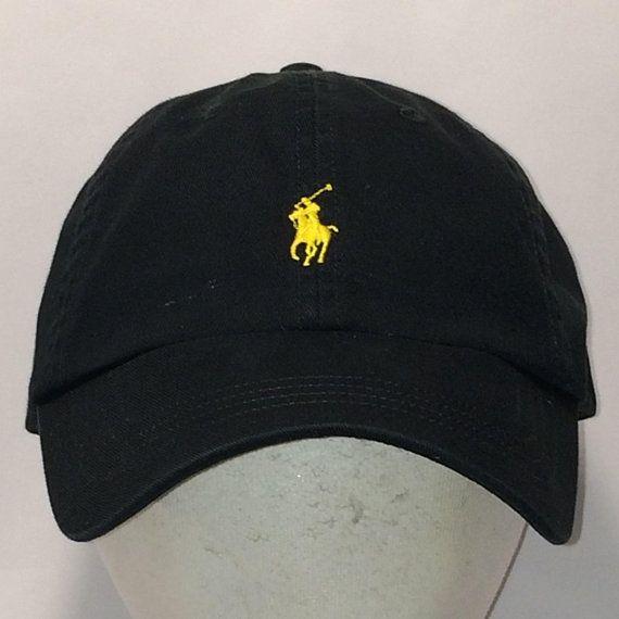 34783ca3336fe Vintage Polo Ralph Lauren Hat Horse Caps Black Yellow Pony Strapback Baseball  Cap Cool Sports Hats For Men Low Profile Dad Hat T111 MA8115