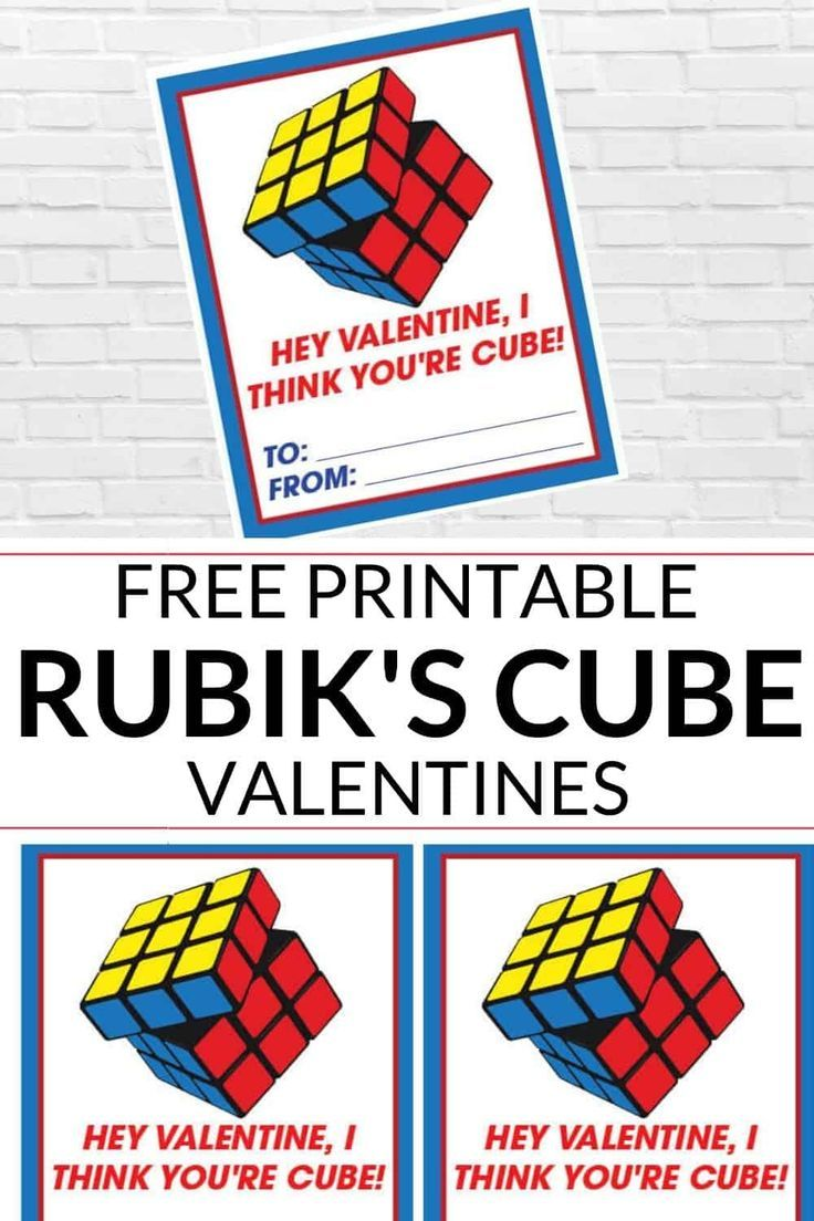 These fun, clever, Rubik's Cube Valentine Day Card ...