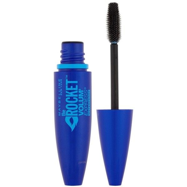Maybelline The Rocket Volum' Express Waterproof Mascara (155 ARS) ❤ liked on Polyvore featuring beauty products, makeup, eye makeup, mascara, cosmetics, beauty, cosmeticos, black, filler and maybelline mascara