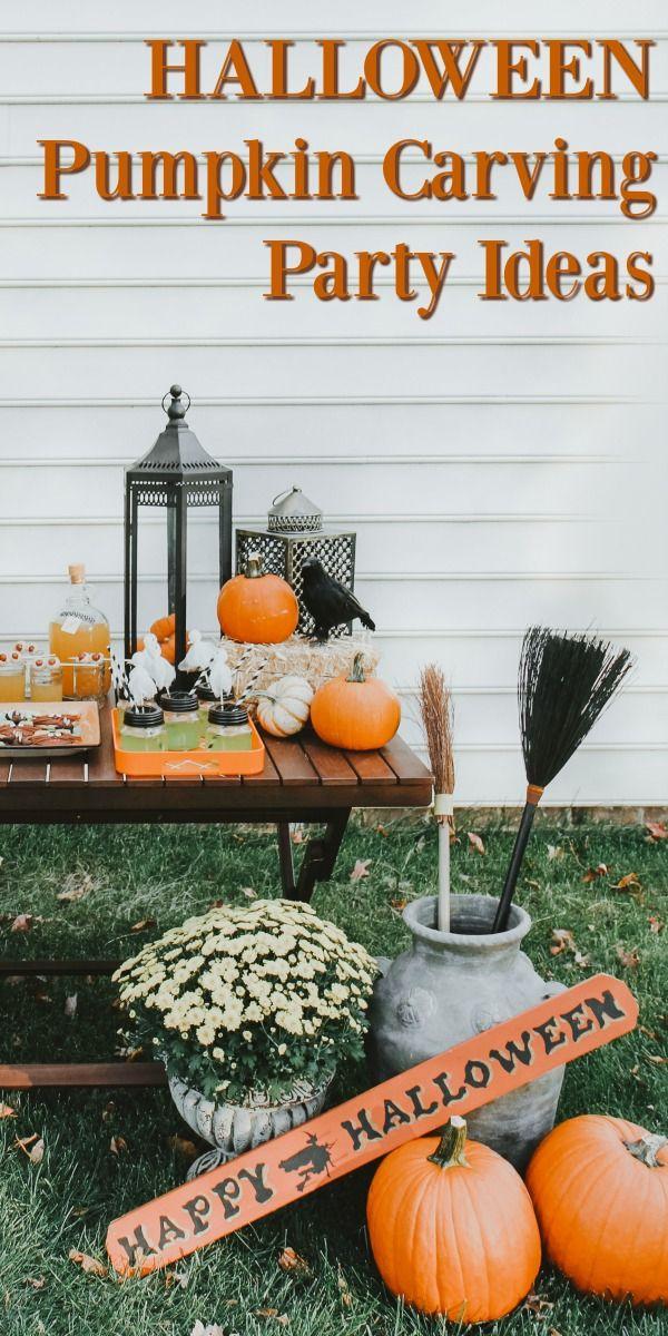Halloween Pumpkin Carving Party Ideas