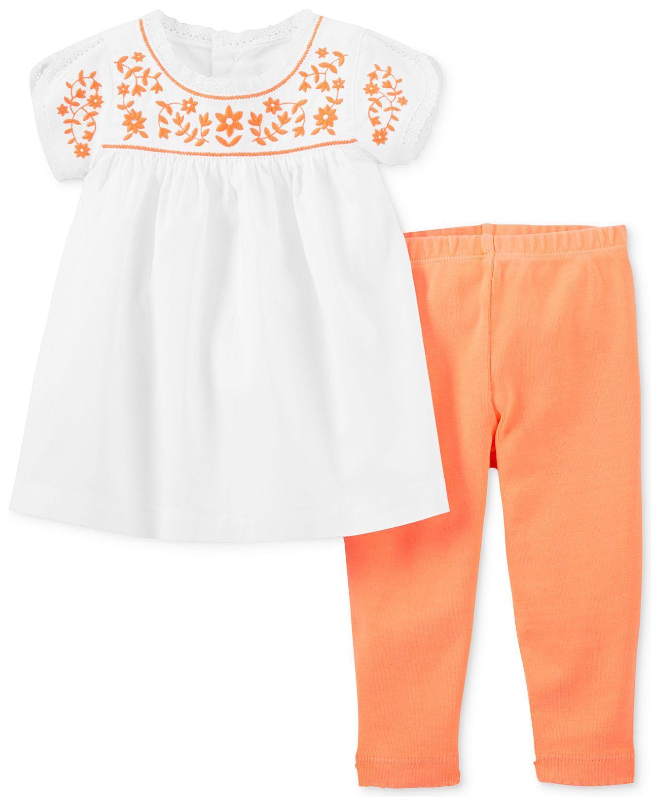 148958baafbe8 Carter's Baby Girls' 2-Piece Top & Leggings Set - Kids Baby Girl (0 ...