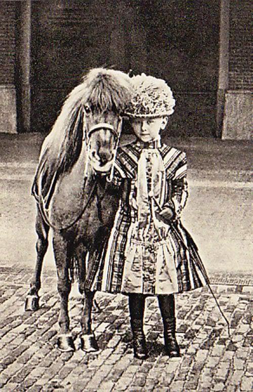 Wilhelmina with her pony.