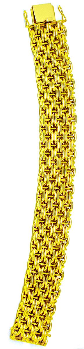 Foto 3, Gelbgold-Armband, seltene 1A-Designer-Arbeit Luxus! Neu, K2881