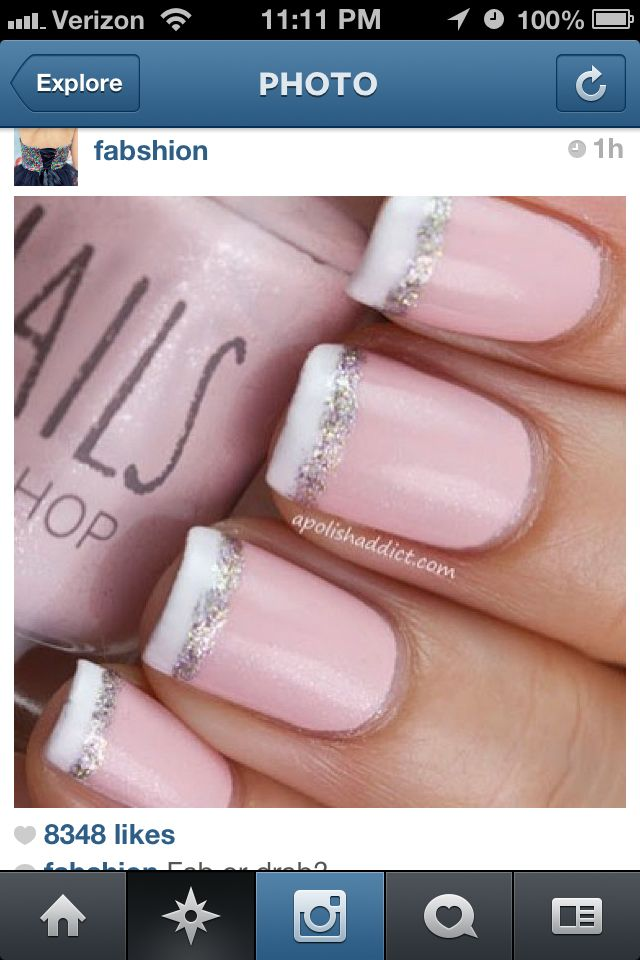 Would Be Easy With Glitter Nail Art Pen Beauty Ideas Pinterest