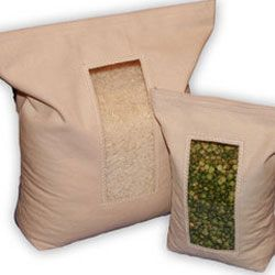 Reusable Organic Bulk Food Bags In Premeasured Sized With A Window For Writing