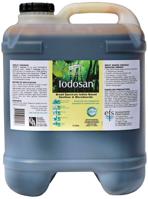 Triple7 Iodosan Sanitizer Cleaning Disinfect