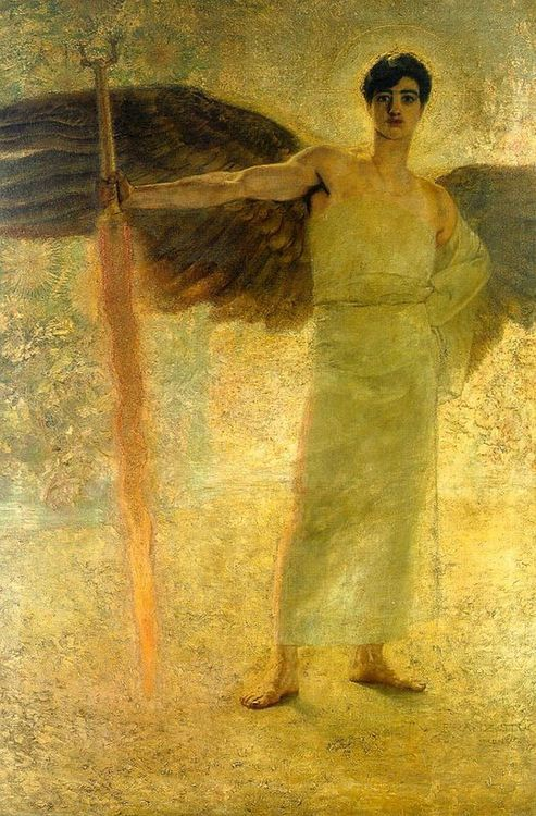 The Guardian of Paradise   Franz von Stuck   Detail