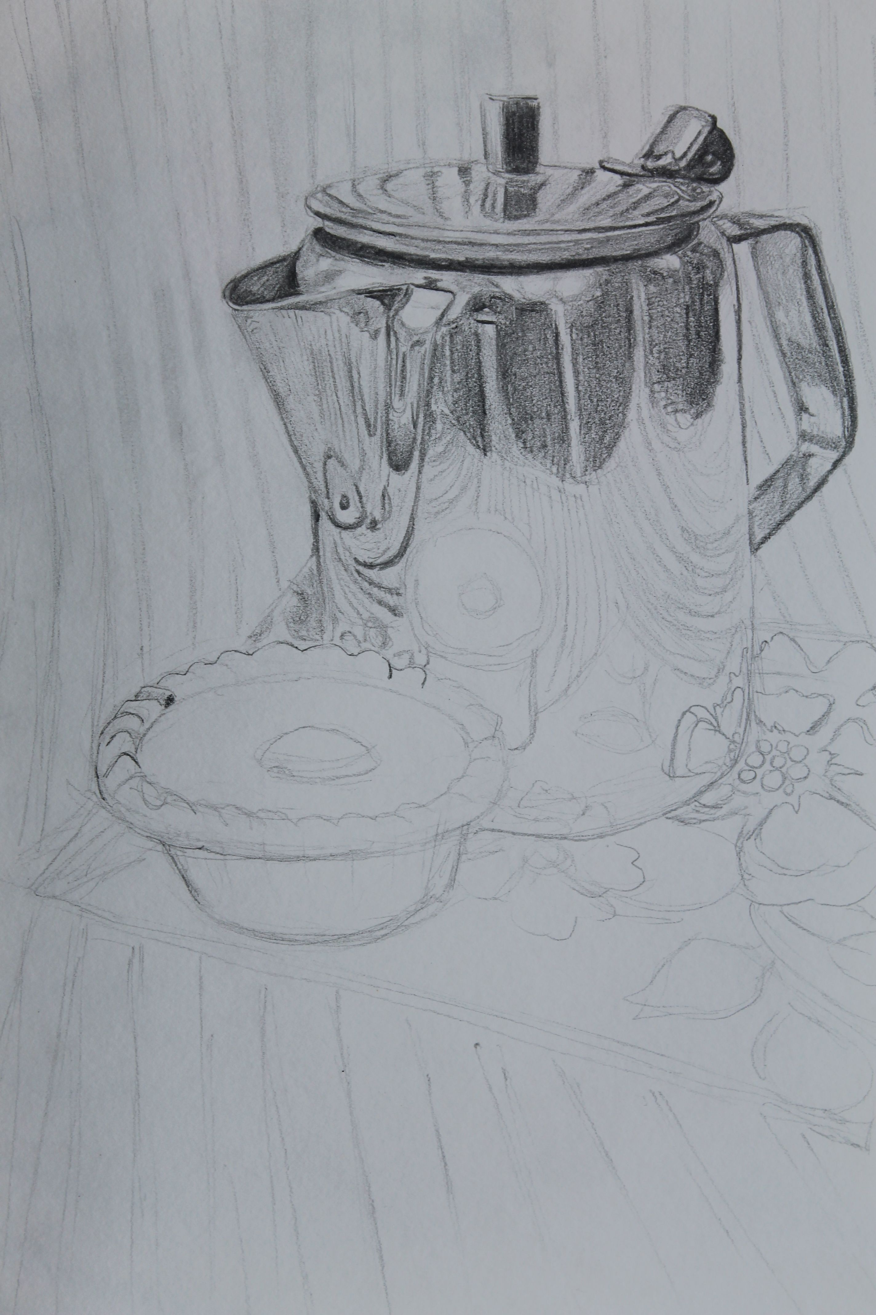 Pencil tonal study still life