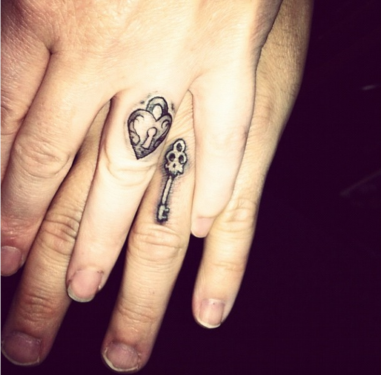 tattoos that are the perfect wedding ring alternative lock and