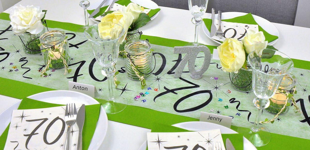 Tischdekoration Zum 70 Geburtstag Bei Tischdeko Shop De