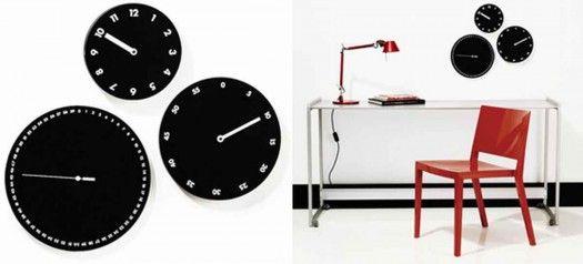 black and white clock By Dario Serio