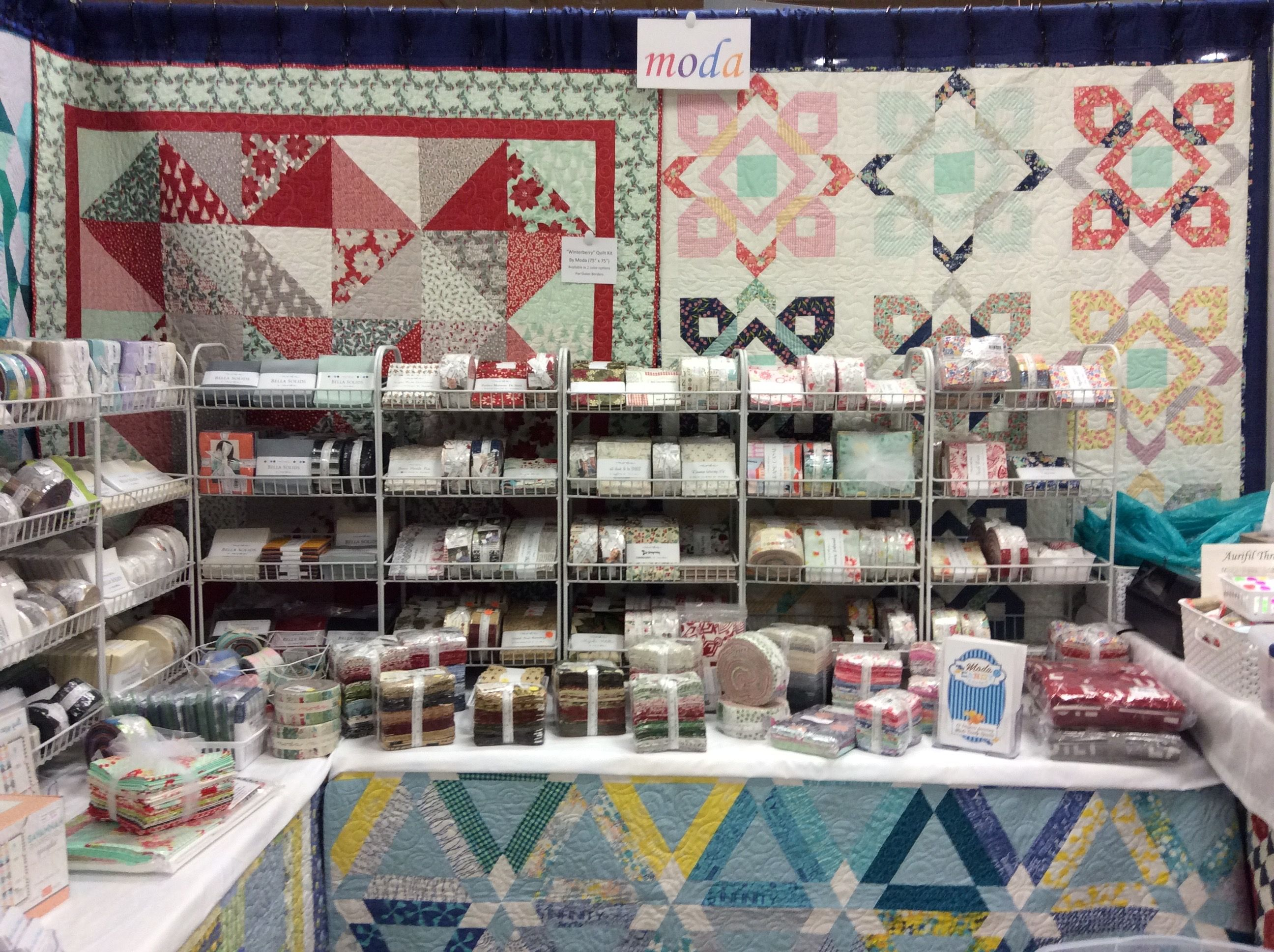 Old South Fabrics At Asheville Quilt Show Old South Fabrics Booth