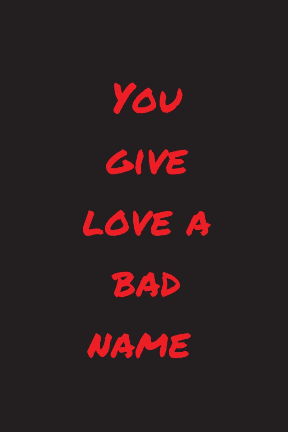 You Give Love A Bad Name American Pop Rock Singer Legend Lyric Poster Bon Jovi