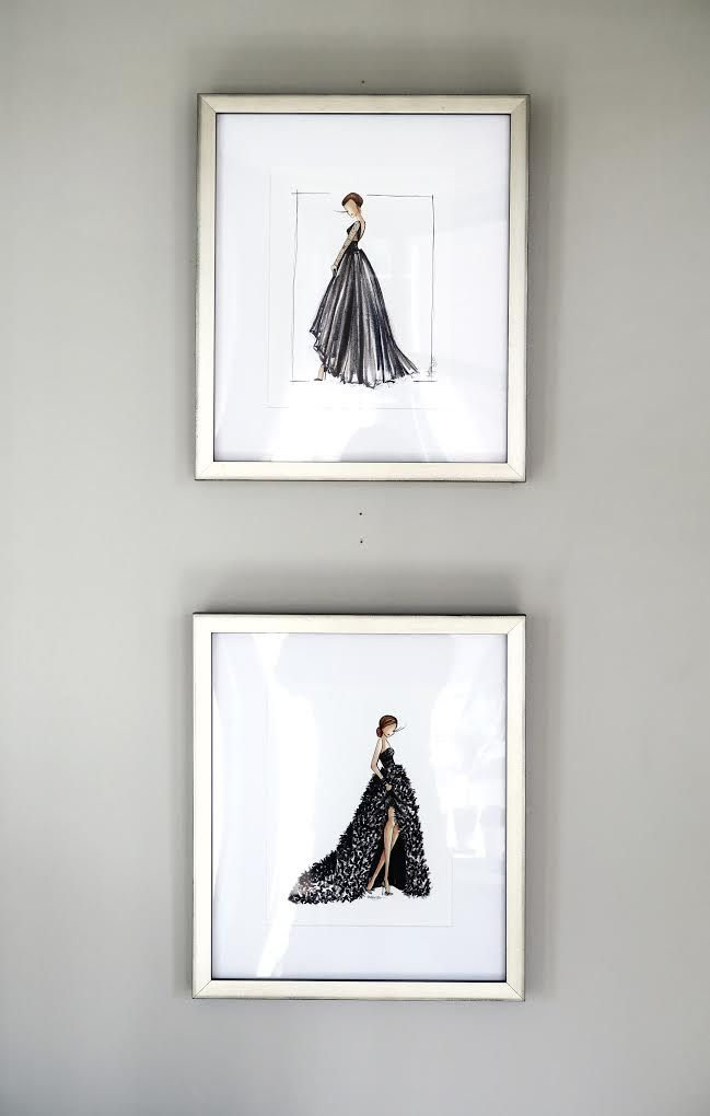 Gallery Wall | Fashion Illustration | How To Frame Prints | Brittany Fuson