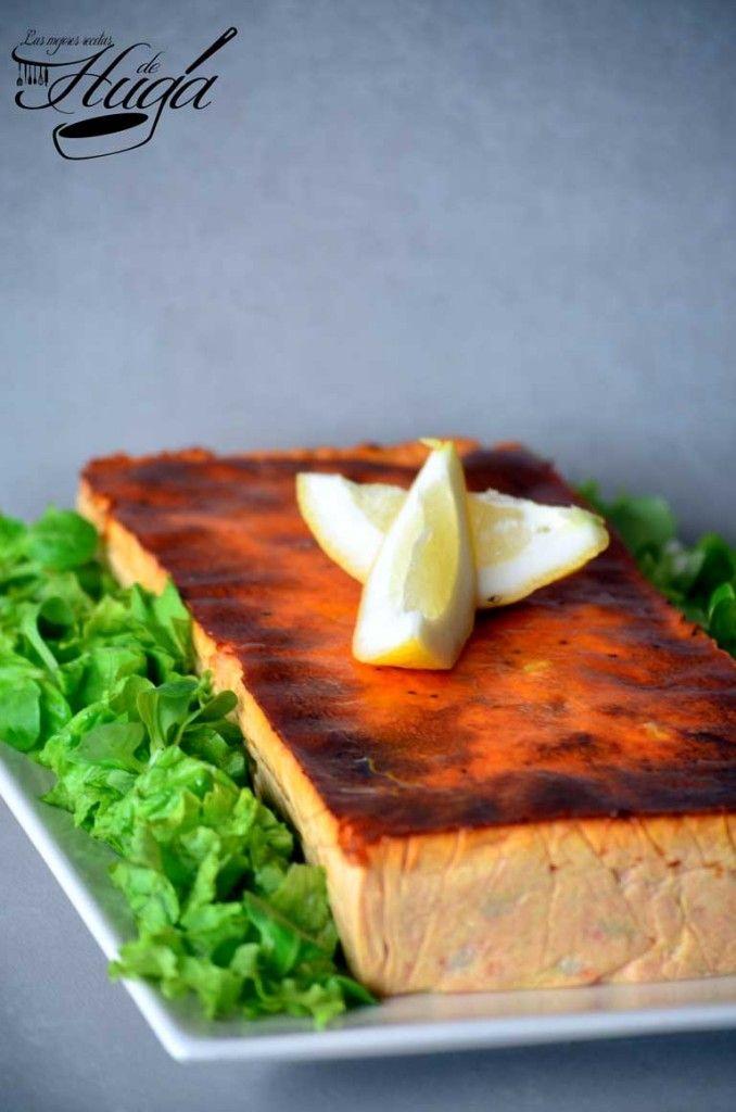 Pastel de rape y langostinos - Una deliciosa #receta de #pescado y #marisco https://www.recetashuga.es/mTmfj