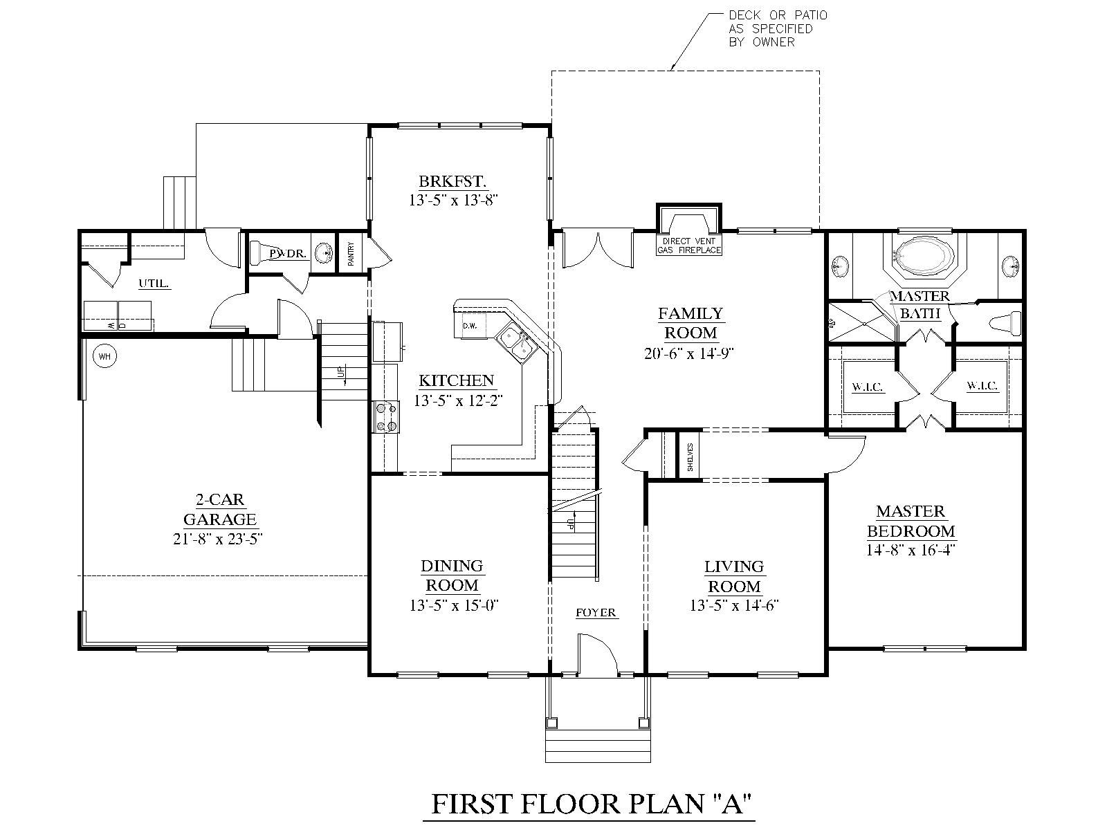House Plan 3120 C Pendleton First Floor Traditional Brick Colonial Design With Large Family Room An House Plans Southern Living House Plans House Floor Plans