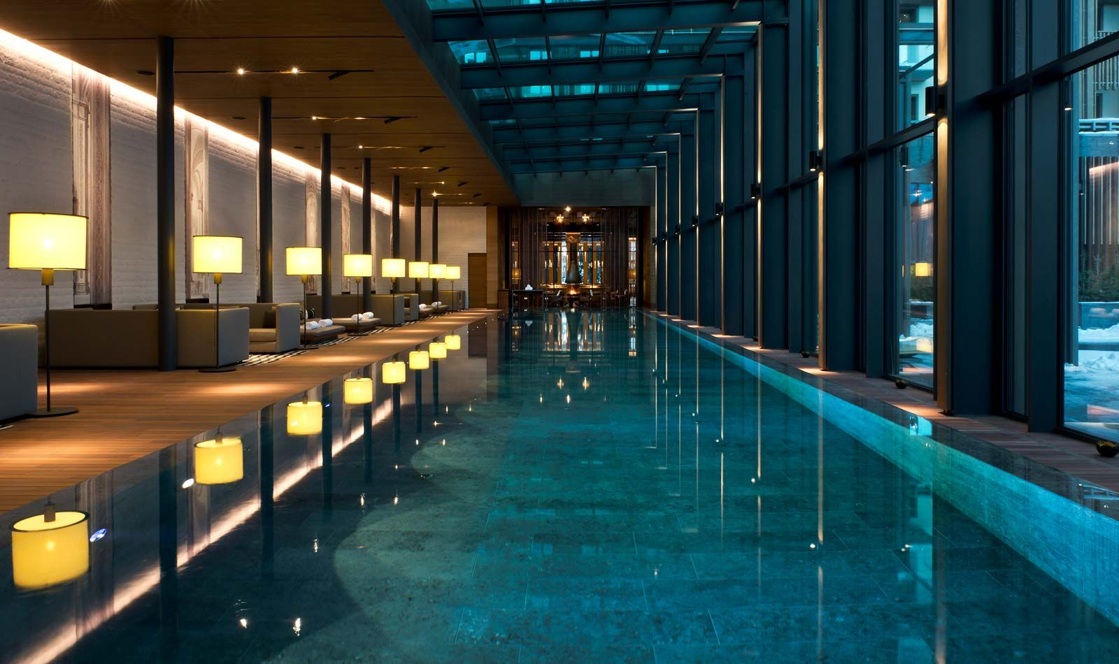 Luxury swiss hotel the chedi andermatt hotel ski resort for Construction pool house piscine