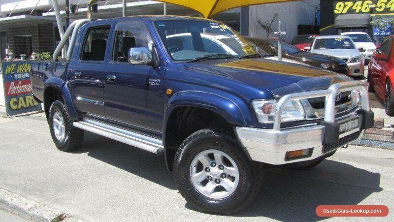 2004 Toyota Hilux VZN167R SR5 (4x4) Blue Manual 5sp M Dual