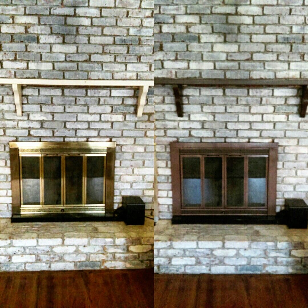 Tree Of Life Fireplace Surround: Brass Fireplace Makeover #diy Diy In 2019