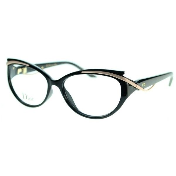 08ad3f326d92 Glasses · Eyeglasses · Dior 3278 09OE Black Matte Pink Frame Eyeglasses  (970 SAR) ❤ liked on Polyvore