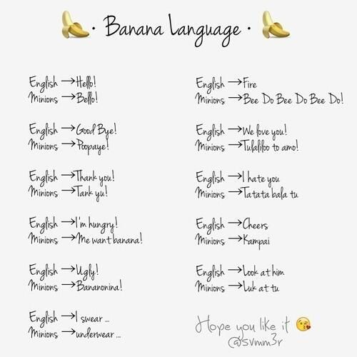 Explore Banana Language, Minion Stuff, And More!