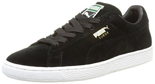 Puma Suede Classic+, Sneakers Basses homme, Noir (Black/Team Gold/White