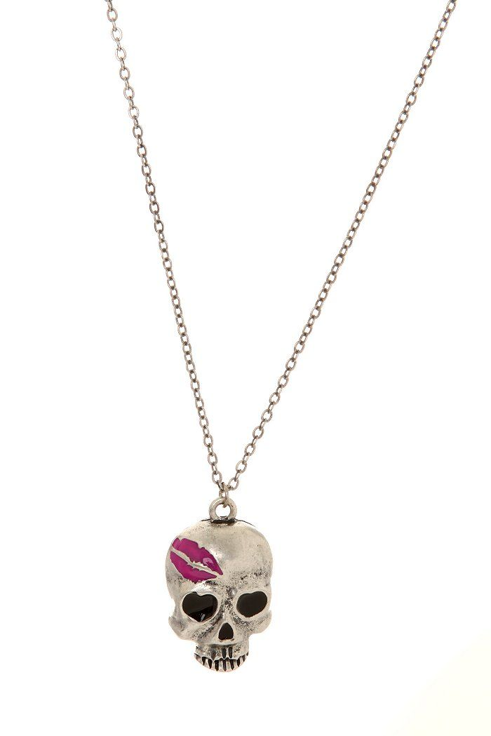 Skull Kiss Necklace