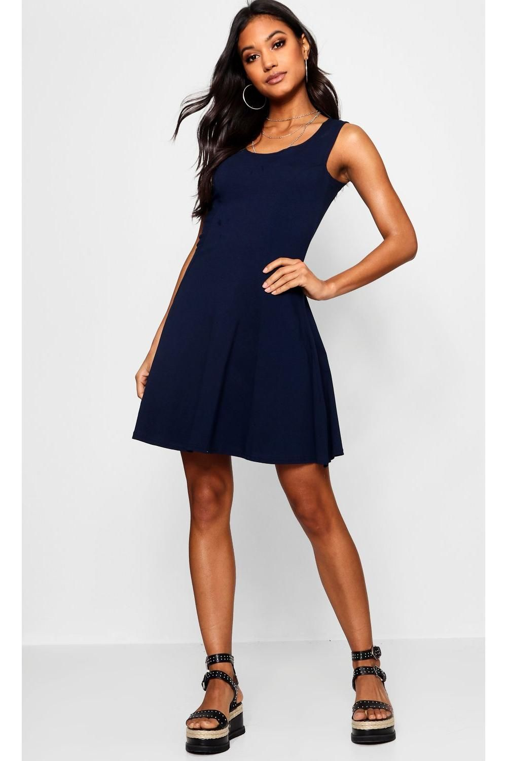 52c212daf59a3 Click here to find out about the Sara Seam Detail Skater Dress from Boohoo,  part