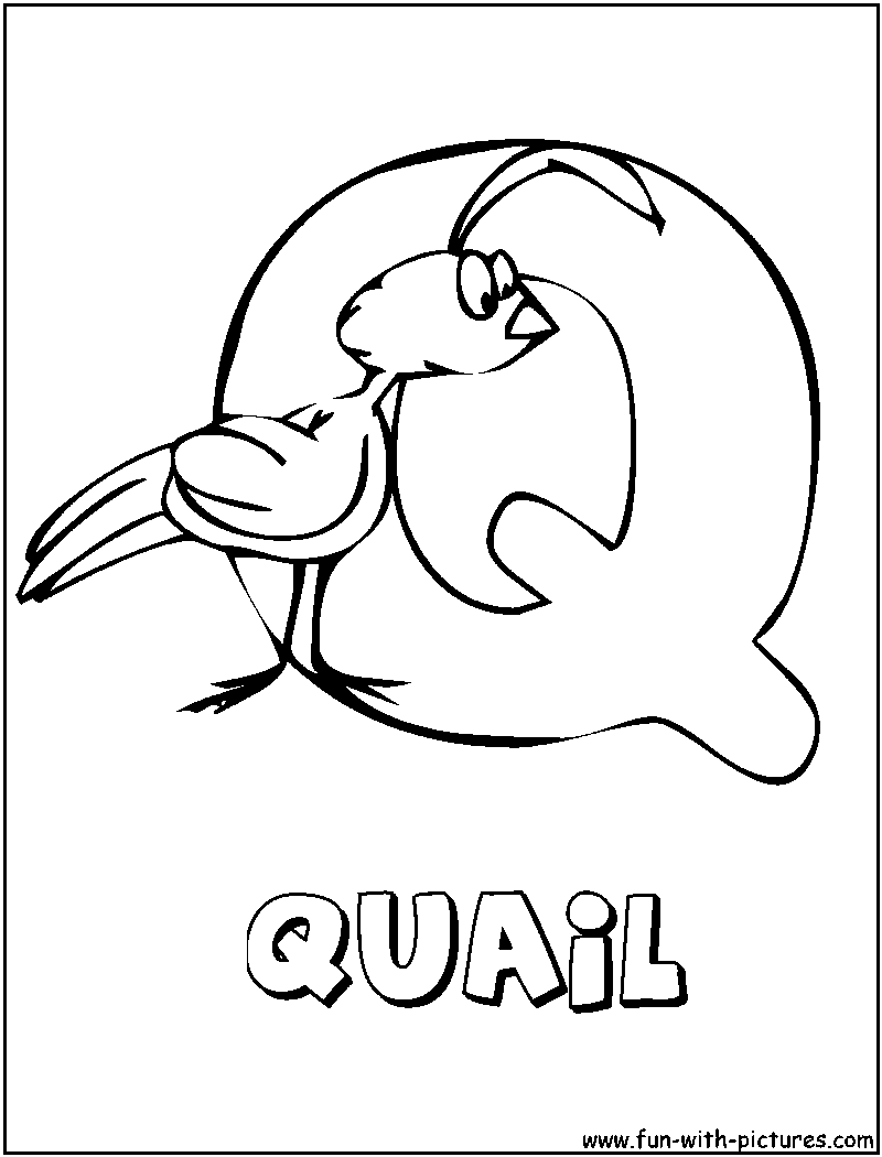 Letter Q Coloring Page | Coloring Pages ♥ Mommy Scene | Pinterest