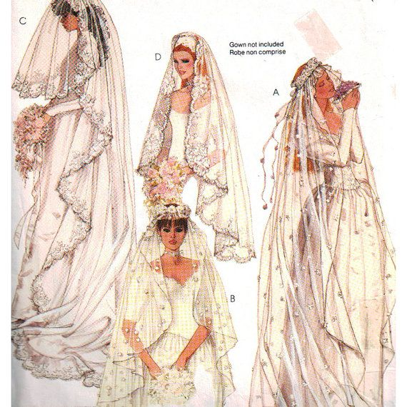 McCall\'s Sewing Pattern 2326 Misses bridal veils by PatternWalk ...