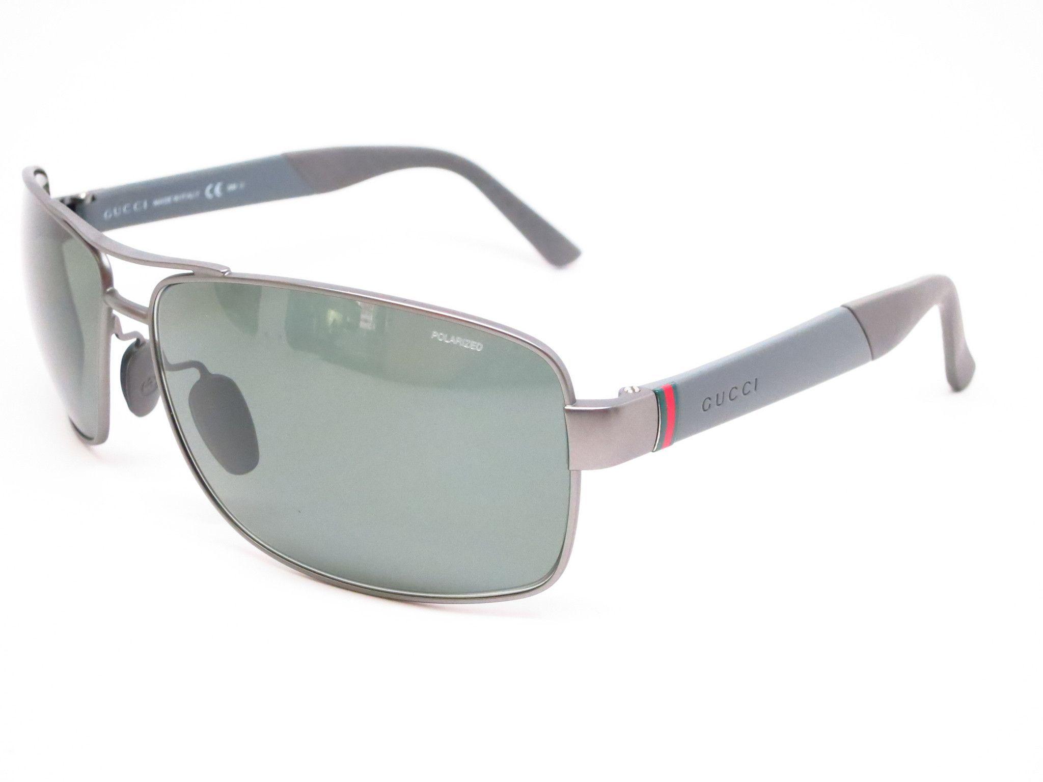 322919bb245ee Gucci GG 2234 S 8EBUC Semi Matte Dark Ruthenium Sunglasses
